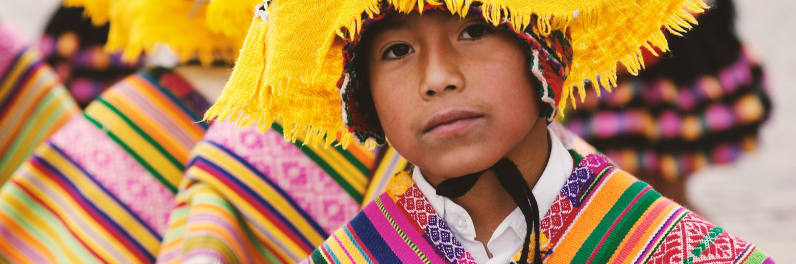 A child wearing traditional clothing